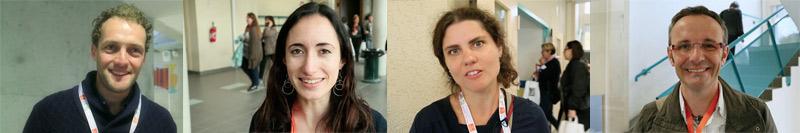 gallerie des visages de deux femmes et deux hommes interviewés pour le reportage vidéo sous forme de micro-trottoire pour le festival de la relation